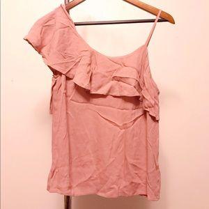 Pink one shoulder Express top